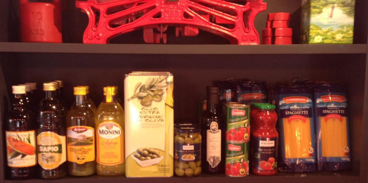 У нас теперь можно приобрести соки, масла, специи для блюд и многое другое